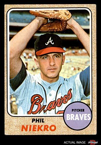 1968 Topps # 257 Phil Niekro Atlanta Braves (Baseball Card) Dean's Cards 2 - GOOD Braves