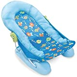 Honey Bee Large Comfort Baby Bather (Blue)