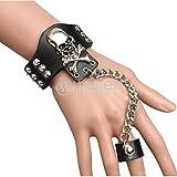 Dedo_de_la_mano_Esqueleto_Spike_Anillo_Pulsera_Brazalete_Brazalete_gótico_Calavera_Punk_Don #NUN Bracelet Ring Bangle