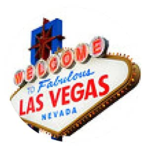 alfombrilla de ratón Bienvenidos a la muestra de Las Vegas - ronda - 20cm