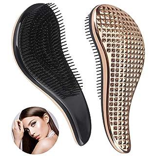 Detangling Hairbrush, Detangler Hair Brush for Women and Kids, Perfect for Wet,Dry,Fine,Thick Hair - Gold