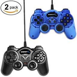 Sabrent Pack of Two Twelve-Button USB 2.0 Game Controllers for PC (USB-GAMEKIT)