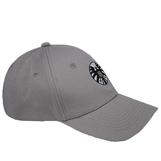85ec510e7 Captain Marvel Hat Shield Baseball Hat Carol Danvers Cosplay Accessory Gray