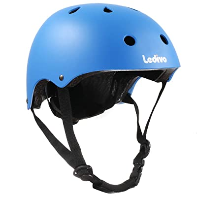 Ledivo Kids Bike Helmet Toddler Helmet Adjustable Kids Helmet for Ages 3-8 Years Boys Girls, Multi-Sport Safety Cycling Skating Scooter Helmet, CSPC Certified (Blue) : Sports & Outdoors