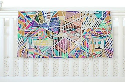 40 x 30 KESS InHouse Vasare Nar Abstract Geometric Playground Multicolor,Pastel Fleece Baby Blanket