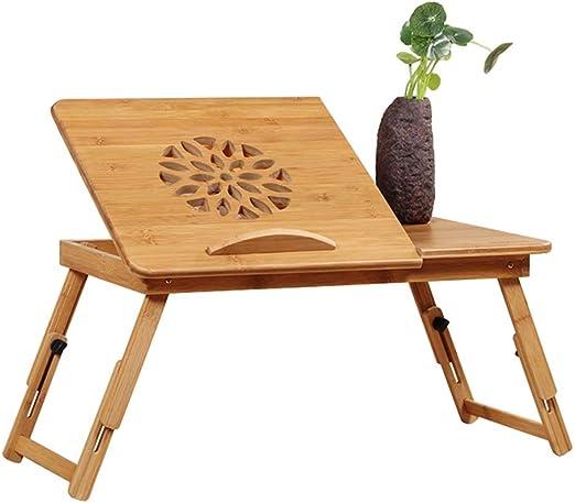 Escritorio portátil para cama de madera | Mesa plegable para ...