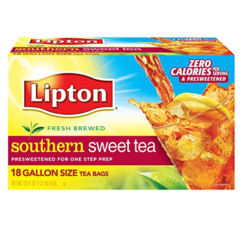 - Lipton Southern Sweet Tea, Gallon-Size Tea Bags, 18-Count