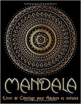 Mandala 95 Mandalas Pour Adultes Sur Fond Noir Pour Des