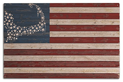 Cape Cod Canvas (Cape Cod, Massachusetts - Distressed Flag (10x15 Wood Wall Sign, Wall Decor Ready to Hang))