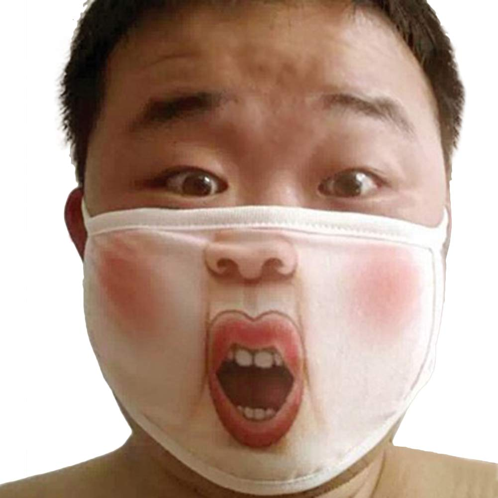 Earloop Face Mask, Trenton Funny Mischievous Air Pollution Face Mouth Mask - Anti-Dust Smoke Warm Outdoors 3#