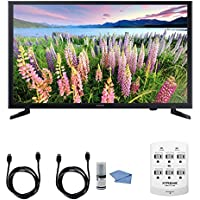 Samsung UN32J5003 - 32-Inch Full HD 1080p LED HDTV + Hookup Kit - Includes HDTV, 6 Outlet Wall Tap Surge Protector with Dual 2.1A USB Ports, HDMI Cable 6 and Performance TV/LCD Screen Cleaning Kit