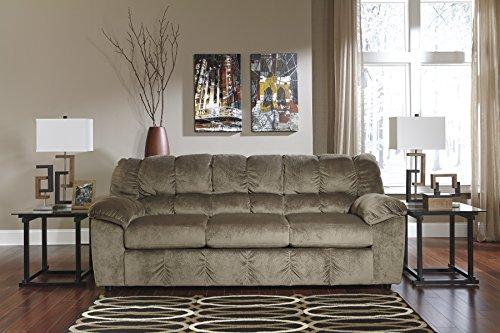 Julson Contemporary Tan Padded Microfiber Sofa