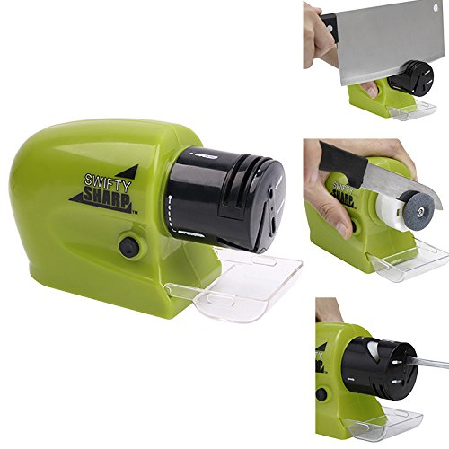 - Motorized Knife Blade Sharpener - Cordless Electric Multi-Function Home Kitchen Knife Blade Sharpener