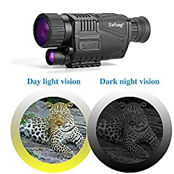 Night Vision Monocular (Included 16GB TF Card), 5x40mm HD Night Vision Monocular Take Photos and Videos (Tags Time/Date) Up to 656ft in Full Darkness.