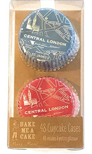 Meri Meri Map of London Themed British cupcake cases (48 count)]()