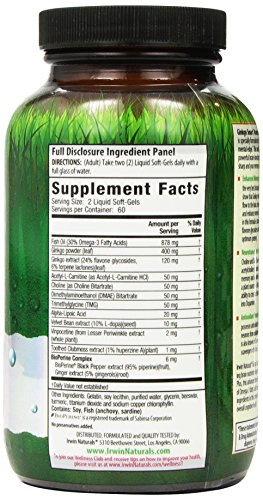 Ginkgo Smart by Irwin Naturals, Brain Booster for Memory & Focus, 120 Liquid Softgels by Irwin Naturals (Image #5)