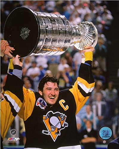 Mario Lemieux Pittsburgh Penguins NHL Stanley Cup Photo (Size: 20