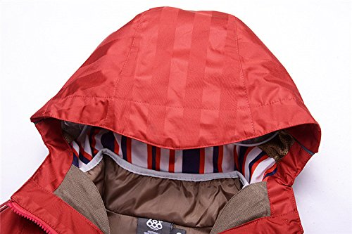 Zipper Hat Wine Pants JACKETS Yellow Sleeve Thickened Long FYM Coat DYF Red Skiing Suspenders Sport nBT4q8w