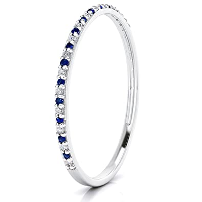 anniversary white cubic and zirconia eternity p ring band sapphire gold in bands