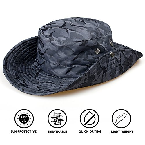 TAMINGTON Outdoor Boonie Sun Hat Wide Brim Breathable Solar Protection UPF 50+ Sun Cap Fishing,Hiking,Garden,Camping,Hunting Outdoor