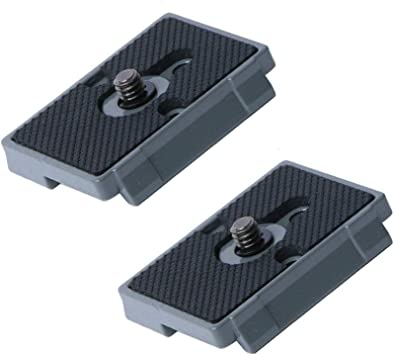 New lightweight design Manfrotto QR 200PL-14 fitting 2x Quick Release Plates