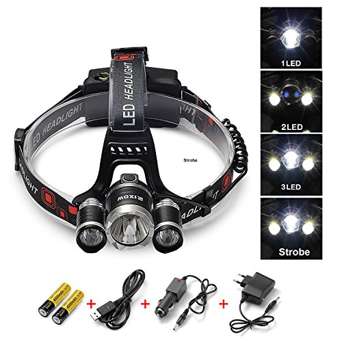 Amazon Lightning Deal 98% claimed: LED Headlamp, Arespark 5000 Lumens Flashlight for Camping, Running, Hiking, Reading, Kids5000 Lumens Flashlight for Camping, Running, Hiking, Reading, Kids with 3x CREE XM-L XML T6 Super Bright Waterproof 5 Modes Hea...