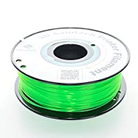 3D Solutech 3DSPLA175STGRN See Through Green 3D Printer PLA Filament, Dimensional Accuracy +/- 0.03 mm, 2.2 lb. (1.0 kg) - 100% USA, 1.75 mm, PLA, Green by 3D Solutech