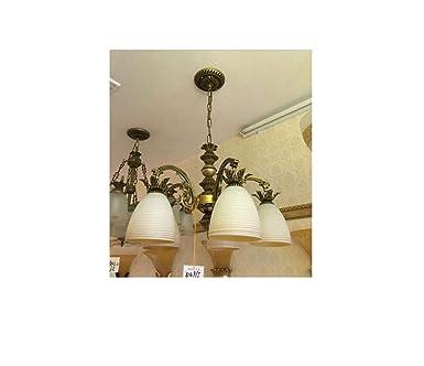 WhiteRay Antique Designed 5 Light Golden Flower Designed Lighting Golden Chandelier Chandeliers at amazon