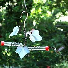 Copper 3-Tube Ivy Hummingbird Feeder