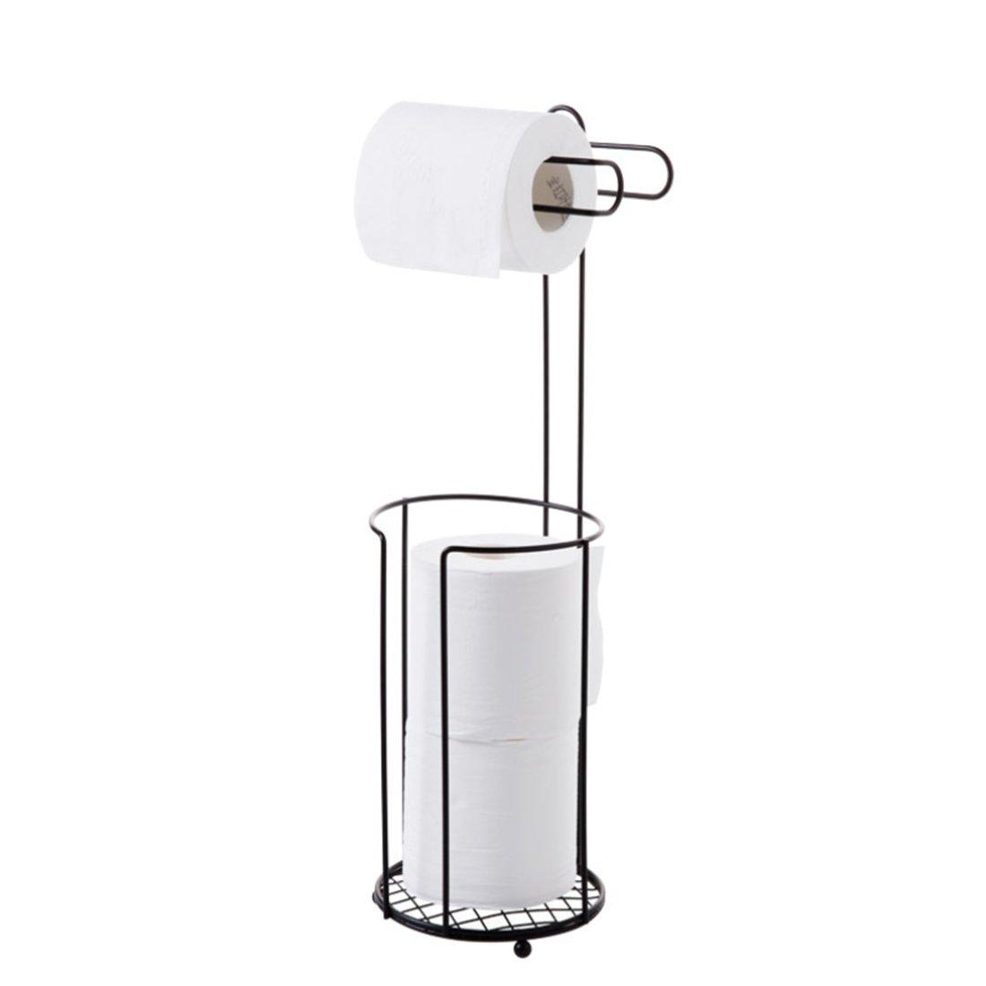 Portarrollos de papel higié nico bañ o rollo rollo de papel portarrollos de pie soporte de hierro Bañ o 2 almacenamiento de papel Luwu-Store