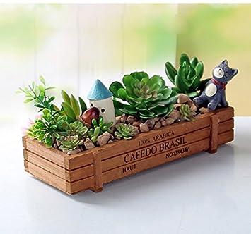 Amazon.com: LemonGo Indoor Herb Garden Plant - Pots Planters Wooden ...