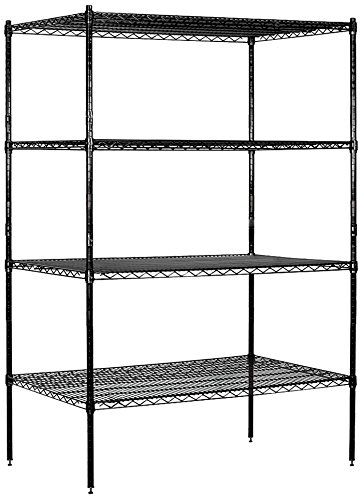 Salsbury Industries Stationary Wire Shelving Unit, 48-Inch Wide by 74-Inch High by 24-Inch Deep, ()