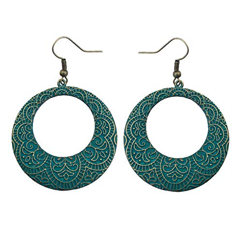 SMALLE ◕‿◕ Ethnic Retro Bohemian Droplets Color Dress Mexico Gypsy Dangle Earrings ()