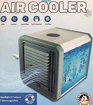 Aire Acondicionado Portátil, 4 en 1 Ventilador Aire Acondicionado, Humidificador y Purificador, Air Cooler Fan con Mango, 3 Velocidades para Hogar Oficina Acampada: Amazon.es: Bricolaje y herramientas
