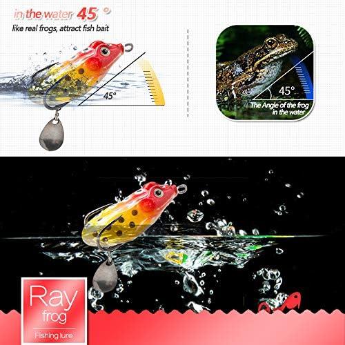 10 pezzi Minnow Soft Ray Frog Bait Simulazione Artificiale Fishing Lure TaJ9IT