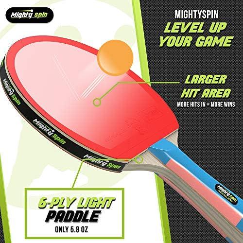 Amazon.com: MightySpin Hurricane - Pala de ping pong con ...