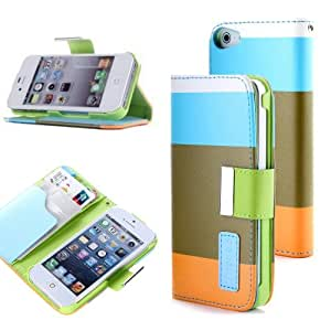 iphone 4s cases, iphone 4 case cover, iphone 4 leather case, Gotida 4S-G009 iPhone 4 4S Leather Wallet Purse Handbag Case Cover with Clear Slot for ID, Credit Card Slots and Hidden Slot, iphone 4 wallet leather case