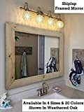 large bathroom mirrors Shiplap Large Wood Framed Mirror Available in 4 Sizes and 20 Colors: Shown in Weathered Oak - Large Wall Mirror - Rustic Barnwood Style - Bathroom Vanity Mirror - Decor for Bathroom