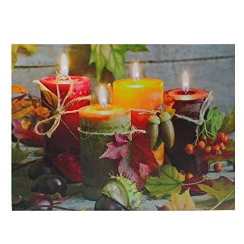 LED Lighted Autumn Harvest Thanksgiving Canvas Wall Art