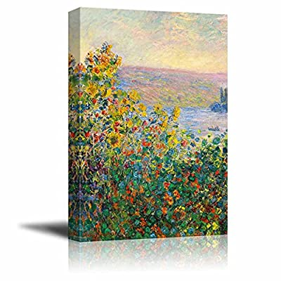 Flower Beds at V¨¦theuil by Claude Monet Print Famous Painting Reproduction, Made With Love, Beautiful Handicraft