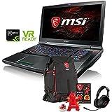 MSI GT75VR202 TITAN PRO VR Ready 17.3 inch Gaming and Business Laptop (Intel i7 Quad Core, 64GB RAM, 1TB HDD + 128GB SSD, 17.3 FHD (1920 x 1080) Display, NVIDIA GeForce GTX 1080, Win 10 Home)