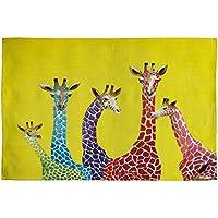 Deny Designs Clara Nilles Jellybean Giraffes Woven Rug, 2 x 3