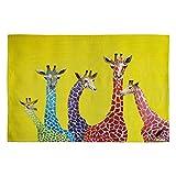 Deny Designs Clara Nilles Jellybean Giraffes Woven Rug, 2 x 3 For Sale