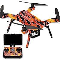 MightySkins Protective Vinyl Skin Decal for 3DR Solo Drone Quadcopter wrap cover sticker skins Hot Flames
