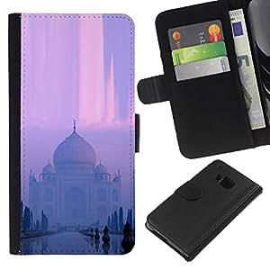 KLONGSHOP // Tirón de la caja Cartera de cuero con ranuras para tarjetas - Templo indio - HTC One M9 //