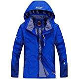 CUKKE Men's Hooded Softshell Insulated Rain Jacket Waterproof Sportswear