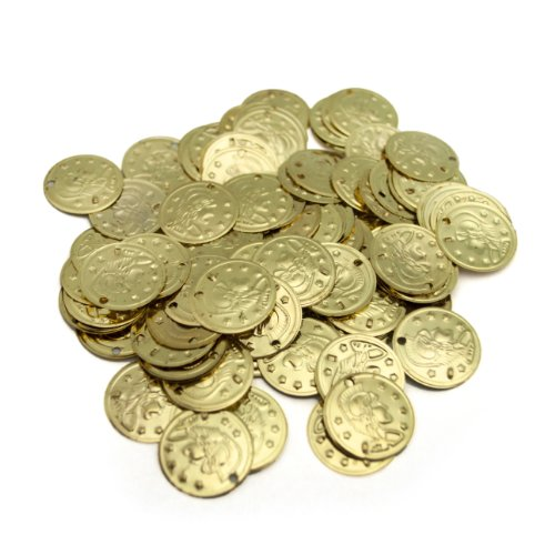 Belly Dancer Costumes Ideas (BellyLady 100pc Belly Dancing Coins, Cavalier Design On One Side, Gift Idea GOLD)
