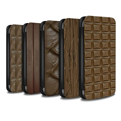 Stuff4 Coque/Etui/Housse Cuir PU Case/Cover pour Apple iPhone SE / Multipack (10 Designs) Design / Chocolat Collection