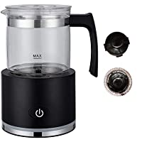 Milk Frother, Automatic Detachable, Electric Milk Steamer Foam Maker with Glass Jug for any kind of coffee, automatic…
