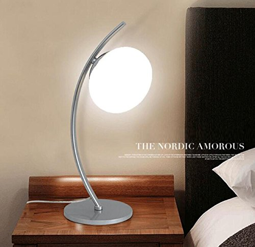 amzh new nordic modern metal desk lamp fashion personality bedroom bedside lamp living room study glass - Decorative Lamps For Living Room